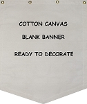 Canvas Banners - Blank - Shield Shape