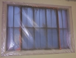 Insulating clear vinyl window Covers